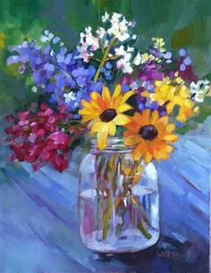 """Daily Paintworks - """"Black eyed Susan"""" by Libby Anderson"""