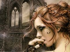 Image detail for -Victoria Frances - Gothic Photo - Fanpop fanclubs Dark Fantasy Art, Fantasy Artwork, Dark Art, Dark Gothic Art, Gothic Artwork, Fantasy Women, Anne Stokes, Boris Vallejo, Steampunk