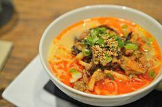 Goro's spicy lamb ramen hits the spot during the lunch hour. Calgary, Thai Red Curry, Ramen, Foodies, Gun, Spicy, Restaurant, Asian, Magazine