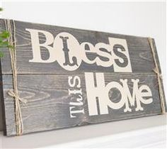 Hang this rustic sign up in your home!