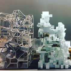 Ribbon vs Voxel @thewhyfactory_twf @bkcity_tudelft : @stefanal snapchat #nextarch #next_top_architects