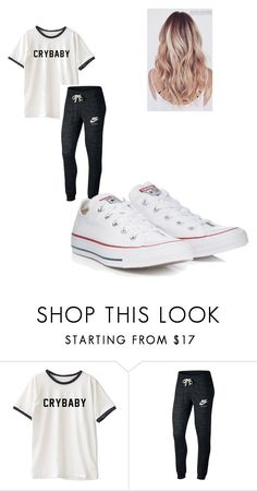 Designer Clothes, Shoes & Bags for Women Lazy Day Outfits, Cute Teen Outfits, Outfits For Teens, Smart Outfit, Converse Chuck Taylor, Cloths, Outfit Of The Day, High Top Sneakers, Outfit Ideas