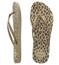 95c80c66799 Release your wild side with classic animal print Havaianas. Featuring
