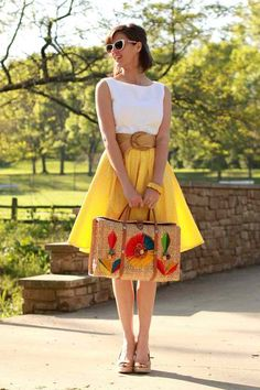 Colorful summer dress..