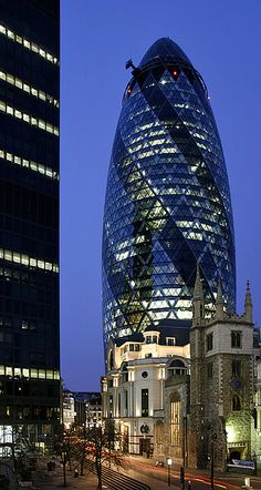 Mary Axe, aka The Gherkin, London Commercial Architecture, Modern Architecture, 30 St Mary Axe, Empire, London Calling, London City, British Isles, London England, Travel Inspiration