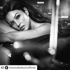Monica Bellucci officiel on Instagram  ❤️In The car by #VincentPeters Hair @johnnollet makeup #christophedanchaud