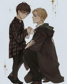 Harry Potter Anime, Draco Harry Potter, Harry Potter Draco Malfoy, Harry Potter Drawings, Harry Potter Ships, Harry Potter Actors, Harry James Potter, Drarry, Darry Fanart