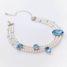 Swarovski pearls and crustal. Handmade by Michael Polkanov