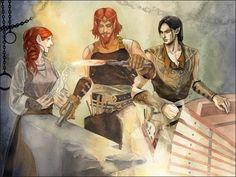 Феанор и Нерданэль в кузнице Махтана Fëanor, Nerdanel , Mahtan