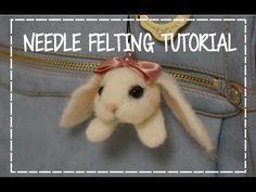 DIY How to Needle Felting a Bunny Plush Tutorial うさぎ羊毛フェルト作り方