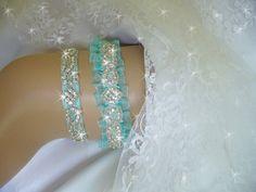 Keepsake Garter Wedding Garter Tiffany Blue by bridalambrosia, $79.00