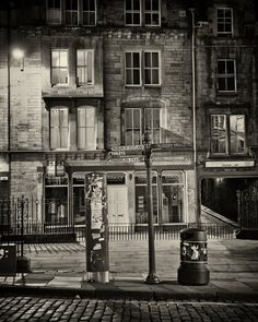 Night Street  Edinburgh Scotland  8x10 Silver Art by scottkrycia, $22.00