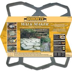 Shop QUIKRETE Walk Maker Country Stone Pattern at Lowe's Canada online store. Find Concrete Stamps & Molds at lowest price guarantee. Concrete Stepping Stones, Garden Stepping Stones, Concrete Molds, Concrete Pavers, Diy Concrete, Concrete Design, Patio Design, Concrete Casting, Concrete Porch