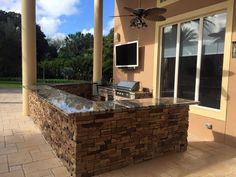 Custom Outdoor Kitchen With Delta Grill Big Green Egg Refrigerator And More A