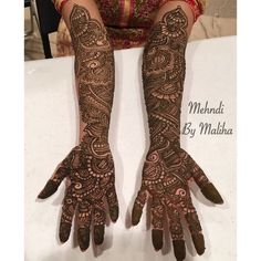 Indian bridal mehndi   Mehndi by Maliha