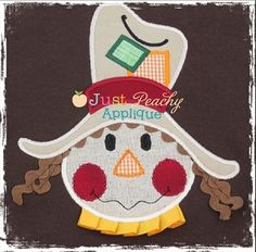 Whimsical Scarecrow Applique Design