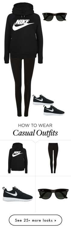"""""""Casual Nike"""" by cgr042904 on Polyvore featuring NIKE and Ray-Ban"""