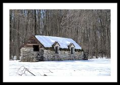 #iowa #photography #fineart #art #gifts Snow On The Roof Framed Print By Bonfire Photography