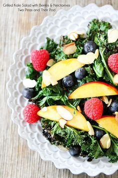 Grilled Kale Salad with Berries