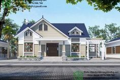 biệt thự vườn 1 tầng 9x15m Dream House Exterior, Shed, Outdoor Structures, Mansions, Architecture, House Styles, Outdoor Decor, Home Decor, Furniture