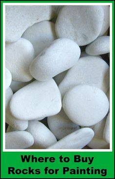 Can't find good rocks to paint? Learn where to purchase a bag of beautiful beach pebbles like these.
