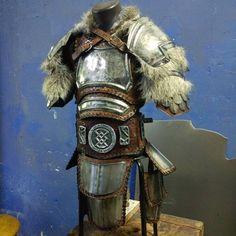 For sale in my etsy shop! Viking Armor, Larp Armor, Knight Armor, Medieval Armor, Medieval Fantasy, Barbarian Armor, Armadura Medieval, Fantasy Character Design, Character Design Inspiration