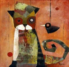 Cat and Bird - Noma Bliss & Jim Bliss