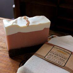 Strawberry Shortcake Vegan Cold Process Soap