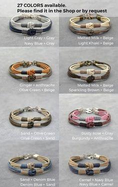 Couples Bracelet 2 Long Distance Matching Couple Bracelets Set Love Knot Cotton Anniversary Couples Gift Personalized His Her Boyfriend Bracelet Couple, Bracelet Love, Matching Couple Bracelets, Bracelet Fil, Bracelet Knots, Paracord Bracelets, Matching Couples, Bracelets For Men, Beaded Bracelets