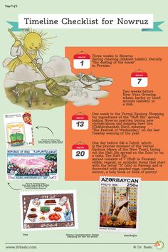 Page 4 of 6: Nowruz Infographic - Educational Poster about the Persian New Year Festival.