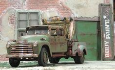 1950 Chevy Wrecker Crew Cab - weathered   Jerry's Cherry's Model Club