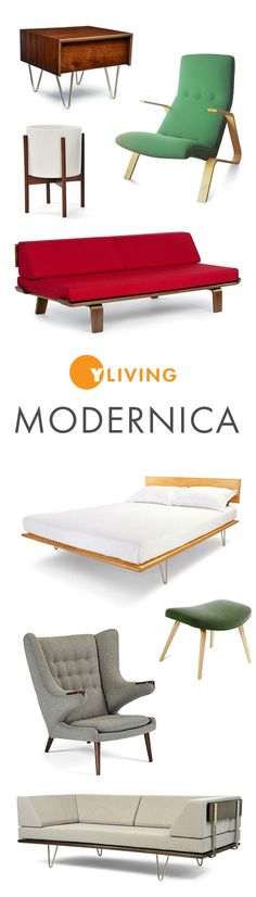 Modernica offers hand-crafted Modernist furniture with a reputation for quality. Shop all modern designs today! http://www.yliving.com/brand/Modernica/_/N-1siet