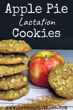 Rich, Warm and Comforting Apple Pie Lactation Cookies - Breast Milk Supply - Love Our Littles® - – A lactation cookie for fall that's perfect for Thanksgiving! Healthy Lactation Cookies, Lactation Recipes, Lactation Foods, Baby Food Recipes, Fall Recipes, Healthy Recipes, Recipes Dinner, Healthy Meals, Breastfeeding Cookies