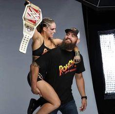 Ronda Rousey & Her Husband - Dawn Hoig Ronda Rousey Wwe, Ronda Jean Rousey, Wrestling Superstars, Wrestling Divas, Rounda Rousey, Divas Wwe, Rowdy Ronda, Catch, Mma Fighting
