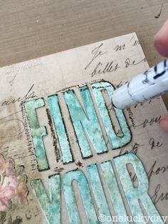 One Lucky Day Distress Crayons and Sizzix alphabet die tutorial