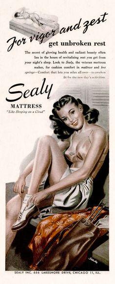 Sealy Mattress 1945 advertisement