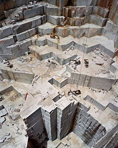 Edward Burtynsky, Carrara Marble Quarries, Italy