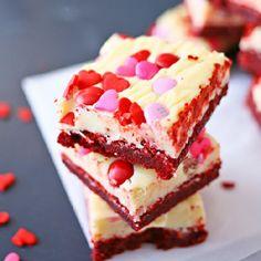 Valentine Red Velvet Brownies.