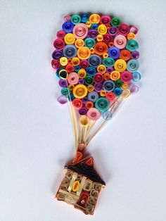 Whimsicle quilled balloon by RomeysGallery on Etsy, $50.00