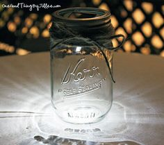 DIY Solar-Powered Mason Jar Luminaries!