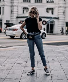 49 lovely spring outfits with sneakers that you need to copy 31 Basic Outfits, Nike Outfits, Simple Outfits, Jean Outfits, Casual Outfits, Estilo Converse, Look Fashion, Fashion Outfits, Mode Cool