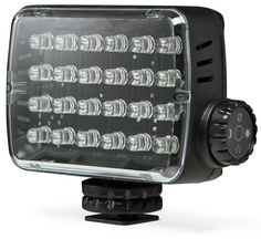 This might be handy at #CES2013: Manfrotto Hotshoe Dimmable LED Panel, $79.99 @thinkgeek