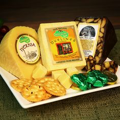 Wee Bit O' Cheese      Give a 'Wee Bit O' Irish' to someone special this year with this Irish cheese collection filled with nothing but the best tasting Irish cheese such as Kerrygold's Dubliner Cheese as well as their Iverna cheese- Cahill Porter and water crackers.  $64.99