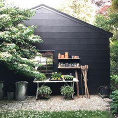 61 Ideas Garden Shed Ideas Exterior Backyard Studio Shed Makeover, Exterior Makeover, Backyard Seating, Backyard Landscaping, Backyard Ideas, Backyard Studio, Large Backyard, Fence Ideas, Landscaping Design