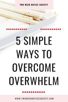You absolutely can overcome overwhelm Ive outlined 5 helpful ways to easily tackle overwhelm now Overcome procrastination get recharged and find forward momentum It can b. Online Marketing, Marketing Logo, Marketing Plan, Internet Marketing, Digital Marketing, Marketing Office, Marketing Training, Marketing Strategies, Business Tips