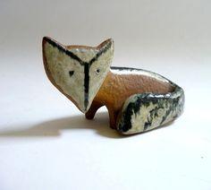 Fox: ceramic animal figurines by Swedish artist Lisa Larson