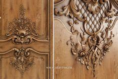 Фрагмент декора в стиле Барокко для межкомнатной двери. Дизайн-проект. A fragment of decoration in the Baroque style for interior door. The design project.