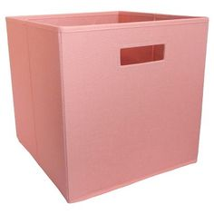 Fabric Cube Storage Bin Coral (Pink)   Pillowfort