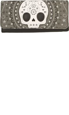 LOUNGEFLY LACE SKULL WALLET