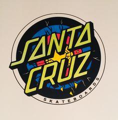 Santa Cruz Logo, Hand Logo, Borneo, Surfing, Dots, Stickers, Stitches, Surf, Surfs Up